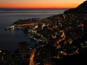 Monaco in the morning of a new year.
