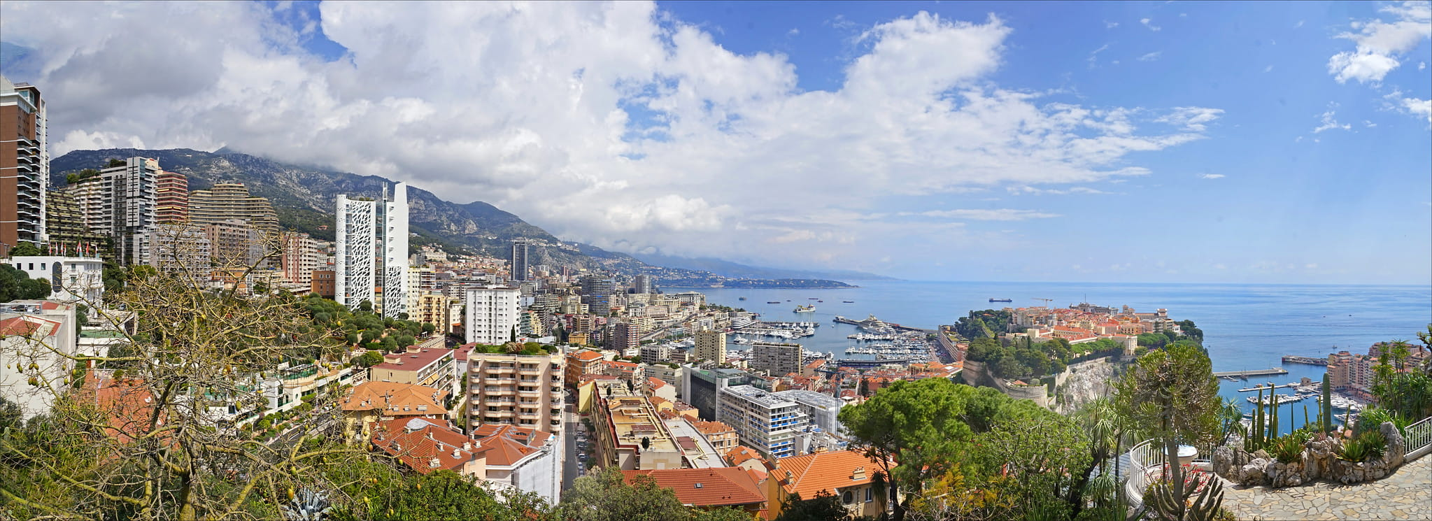 View of Monaco with the Odeon Tour and the Rock.
