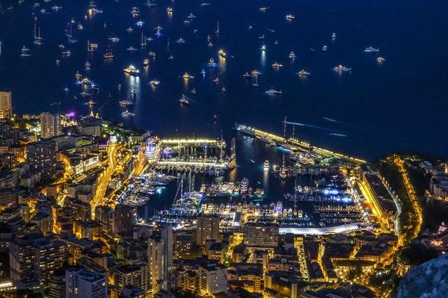 Skyview of Monaco.