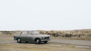 Photo of an old James Bond car.